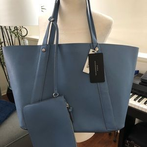 Zara Periwinkle Blue Large Shoulder Strap Purse